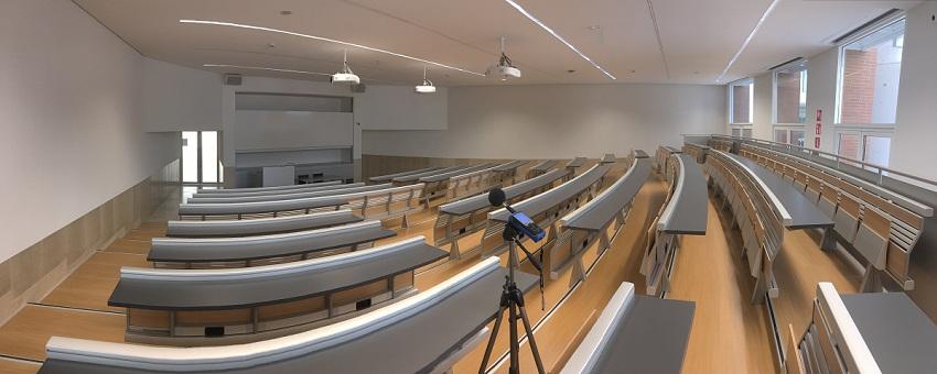 acustica interni aula università bocconi